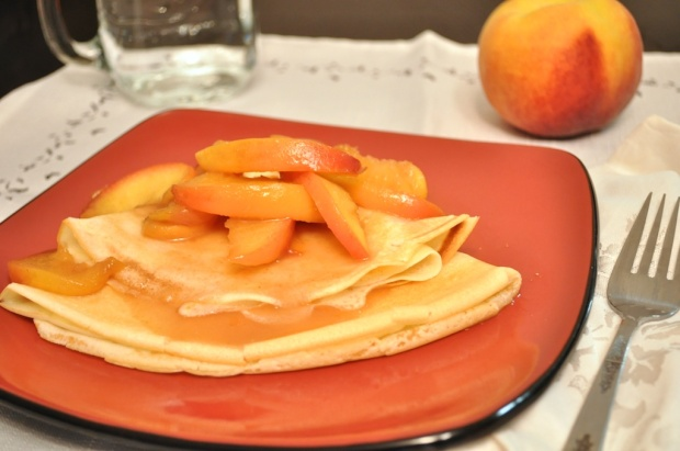 Crepes with Maple Peach Sauce {Apartment 302}